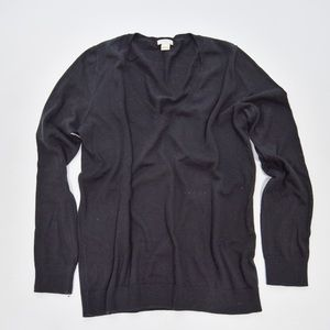 J.Crew Black V-Neck Long Sleeved Sweater Sz S